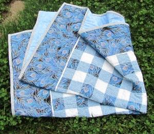 Blue folded