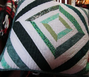 Pillow green inside