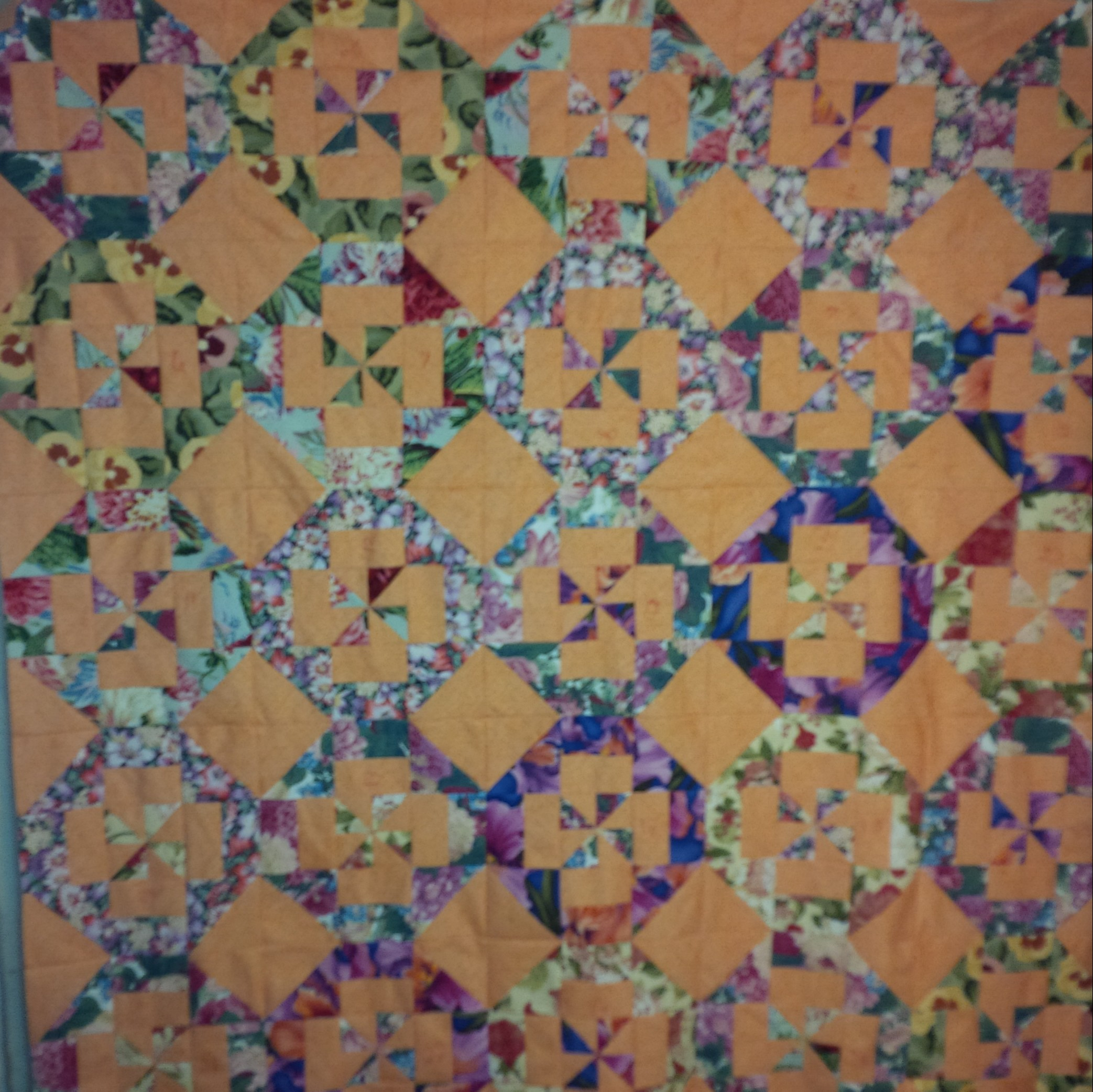 Progress on the Disappearing Pinwheel | Evening in the Garden Quilts