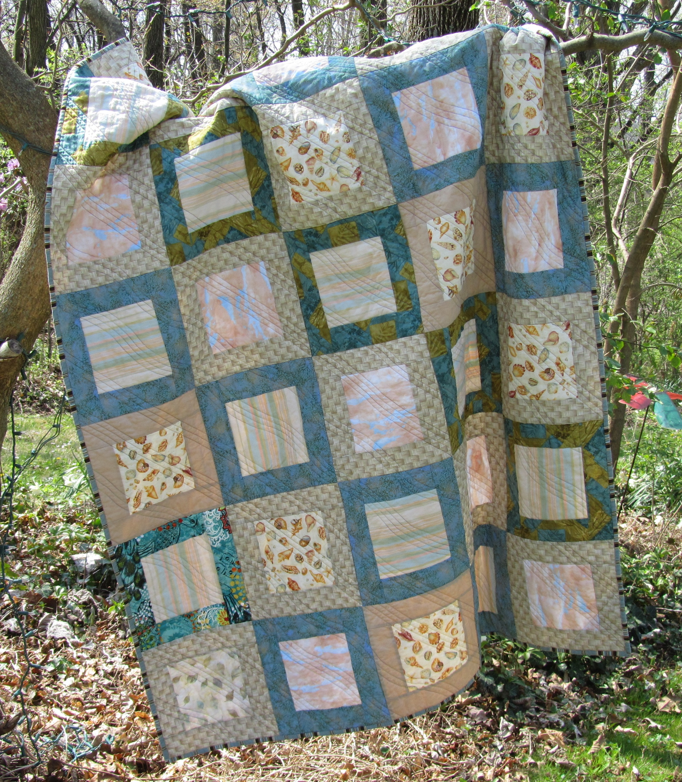 Beach Quilt Finished | Evening in the Garden Quilts : beachy quilts - Adamdwight.com