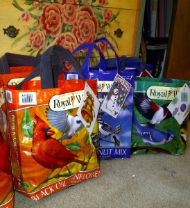 Christmas gift bags from a couple of years ago.