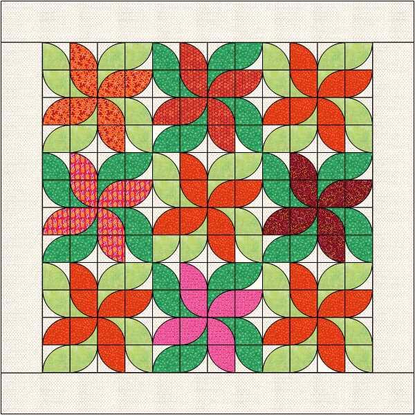 pointsettia quilt